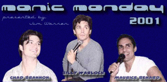 :: photos from the manic monday event at the ghfc weekend 2001 :: chad, billy & maurice ::